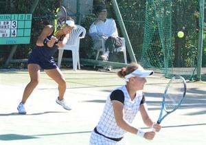 沢柳、リキーナ組V テニス・ゴーセン杯女子