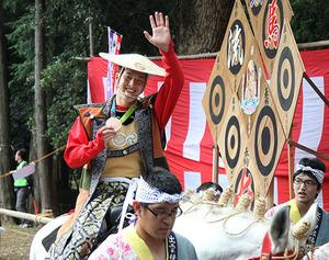 五輪銅の瀬戸、流鏑馬で凱旋 毛呂山で報告会「東京は金」