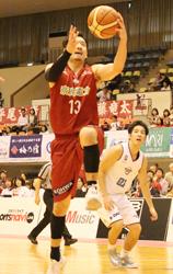 バスケBリーグの奈良 逃げ切り、連敗ストップ