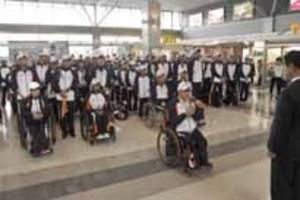全国障害者スポーツ大会 山口県選手団、岩手へ出発