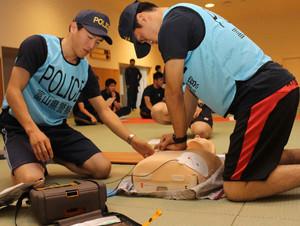 富山マラソン 県警パトロールランナーAED講習