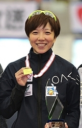 女子500で国内最高、小平2連覇 全日本距離別スピード