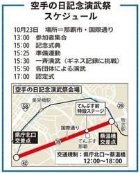 沖縄で空手演武ギネス挑戦 23日午後、那覇市国際通り