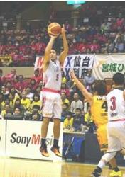 秋田、攻撃のミス響き仙台に連敗 バスケBリーグ