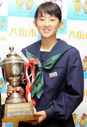 全国中学校ゴルフ大会 女子優勝の阿部未来さん