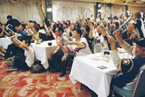 日本ハム 北海道伊達市のホテルでシリーズ観戦会