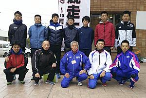 福島県チーム初日は6位 奥羽横断駅伝競走大会