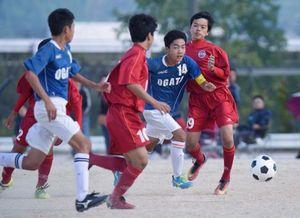 土佐、明徳、高知、佐川4強 高知県中学サッカー