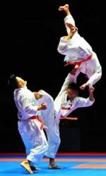 世界空手団体形で日本「金」 沖縄トリオが見せた大技