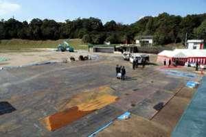 広島カープ由宇球場、改修工事始まる