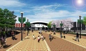 甲子園球場への歩道を整備へ 駅前に円形広場も