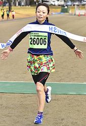 10キロ高校生以上女子は会田が新女王 蔵のまち喜多方健康マラソン