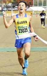 10キロ35歳以下一般男子は加藤が初V 蔵のまち喜多方健康マラソン