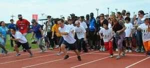 嘉手納で「スペシャルオリンピックス」 障がい児など900人が出場