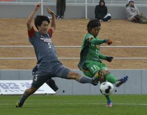 JFLヴァンラーレ八戸、新スタジアムで初勝利