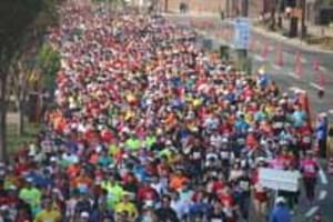 海峡のまち1.1万人力走 下関海響マラソン
