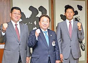 ヤクルト6位・菊沢竜佑投手「活躍したい」 いわき市長表敬