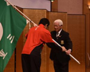 天皇杯10位台誓う 岩手国体、三重県選手団の解団式