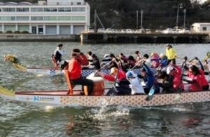 ドラゴンボート 相生湾で日本代表強化合宿
