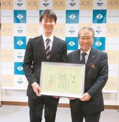 剣道 全日本3位、結城市出身の宮本、市長に入賞報告