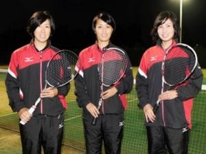 ソフトテニスアジア選手権 優勝誓う東芝姫路の3選手