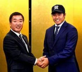 阪神 6位指名の徳島インディゴソックスの福永が仮契約