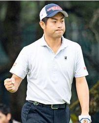 池田エース、首位浮上 ダンロップフェニックスゴルフ