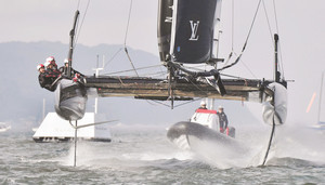 ソフトバンク、5位出航 ヨット・アメリカズ杯