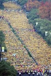 2万人が港町駆ける 神戸マラソンスタート