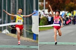 兵庫県中学駅伝 男子・平野、女子・荒井が初全国切符