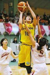 JX、トヨタ紡織を圧倒 バスケ・Wリーグ徳島県大会