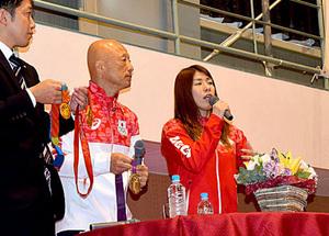 レスリング吉田選手「東京五輪へ努力」 舞鶴市で講演