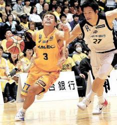 バスケBリーグ 仙台、連係を欠き前半で大差