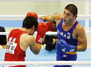 ボクシング 全日本ミドル級 梅村、準優勝