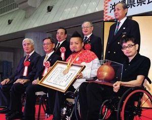 仲里選手に沖縄県民栄誉賞 リオパラリンピック・車いすラグビー銅