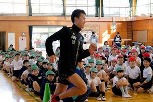 川内優輝選手の弟・鴻輝選手がマラソン教室 埼玉県行田市