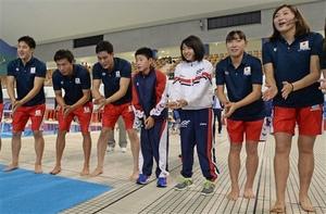 瀬戸、池江選手ら浜松に 競泳日本代表合宿スタート