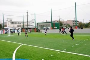 サッカー専用施設、大塩に完成 姫路のNPO運営