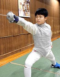 中1、フェンシング全日本出場 龍谷大平安の飯村選手