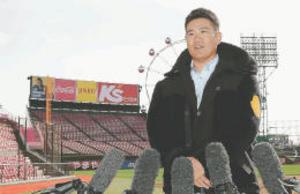 楽天 田中将大、かつての本拠地を訪問