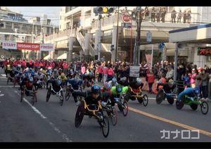 声援背に快走 横須賀・車いすマラソン大会に35選手