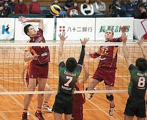VC長野3位浮上、ホーム初勝利 バレーチャレンジ1