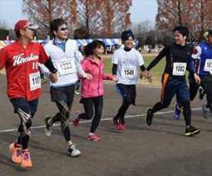 Qちゃんと「快汗」 壬生・ゆうがおマラソンに2700人