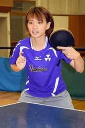 初の卓球学生日本一 同大・成本、大きな手応え