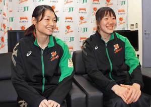 女子バレー、井上と山本奮闘中 京都橘高出身、JTで