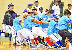 いわきで阪神・歳内選手らと子どもたちが交流