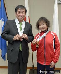 全国障害者スポーツ大会、石澤さんが八戸市長に報告
