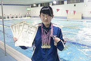 水泳 ろう者水泳選手権で日本新2冠 松本の中3、中東さん