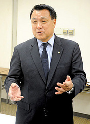 サンガ変革、岩崎に期待 日本サッカー協・田嶋会長