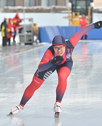 女子500、熊谷が大会新 岩手県高校・中学Sスケート
